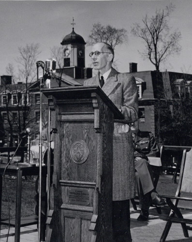 The Right Honourable Vincent Massey reading the address - UAPC11no11(13)