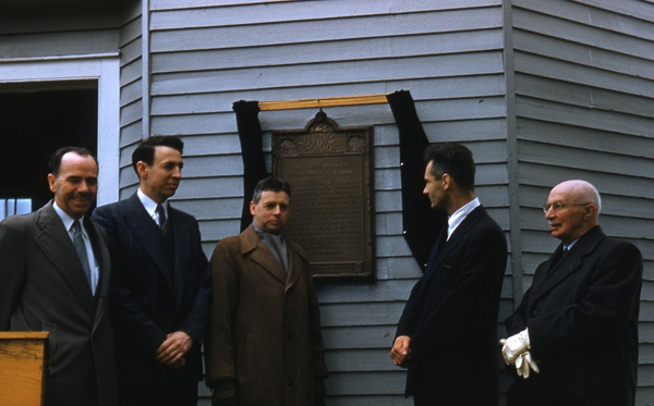 Plaque unveiling Brydone Jack Observatory, University of New Brunswick
