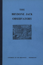 The Brydone Jack Observatory - Cover