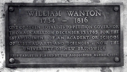 Plaque for William Wanton